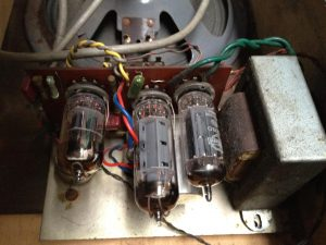 Old valve amplifier inside