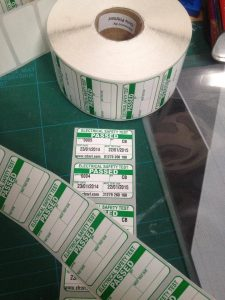 PAT testing label custom printed