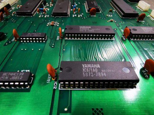 Close up of Yamaha PCB